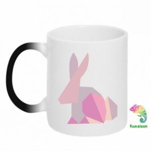 Kubek-kameleon Pink Bunny Abstraction