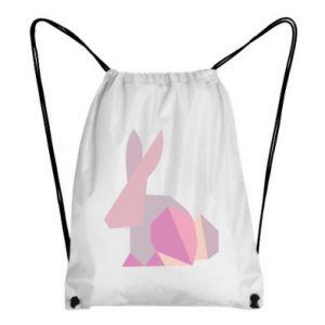 Plecak-worek Pink Bunny Abstraction