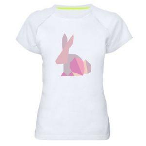 Damska koszulka sportowa Pink Bunny Abstraction