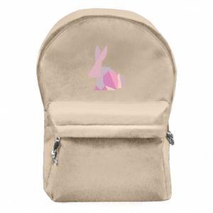 Plecak z przednią kieszenią Pink Bunny Abstraction