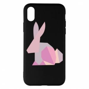 Etui na iPhone X/Xs Pink Bunny Abstraction