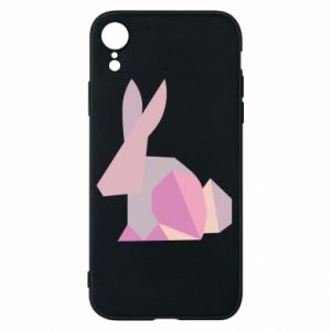 Etui na iPhone XR Pink Bunny Abstraction