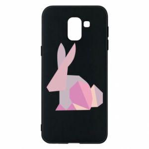 Etui na Samsung J6 Pink Bunny Abstraction