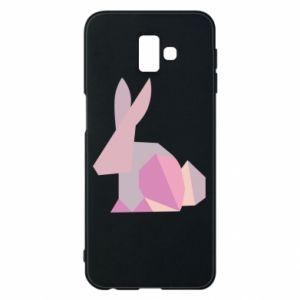 Etui na Samsung J6 Plus 2018 Pink Bunny Abstraction