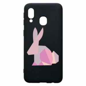 Etui na Samsung A40 Pink Bunny Abstraction