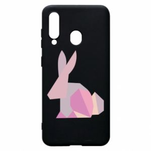 Etui na Samsung A60 Pink Bunny Abstraction