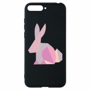 Etui na Huawei Y6 2018 Pink Bunny Abstraction