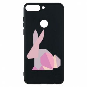 Etui na Huawei Y7 Prime 2018 Pink Bunny Abstraction