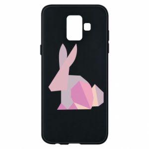 Etui na Samsung A6 2018 Pink Bunny Abstraction