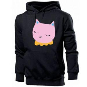 Men's hoodie Pink cat - PrintSalon