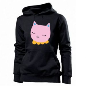 Women's hoodies Pink cat - PrintSalon