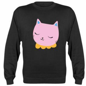 Sweatshirt Pink cat - PrintSalon