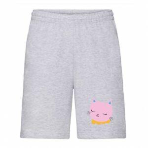 Men's shorts Pink cat - PrintSalon