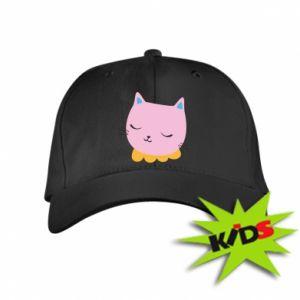 Kids' cap Pink cat - PrintSalon