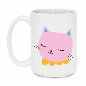 Mug 450ml Pink cat - PrintSalon
