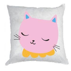 Pillow Pink cat - PrintSalon
