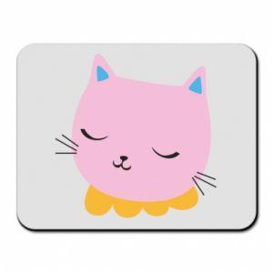 Mouse pad Pink cat - PrintSalon