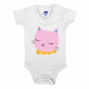 Baby bodysuit Pink cat - PrintSalon