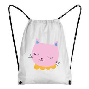 Backpack-bag Pink cat - PrintSalon