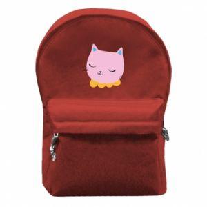 Plecak z przednią kieszenią Pink cat
