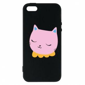 Phone case for iPhone 5/5S/SE Pink cat - PrintSalon