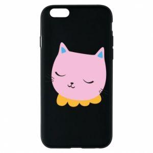 Phone case for iPhone 6/6S Pink cat - PrintSalon