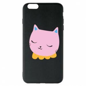 Phone case for iPhone 6 Plus/6S Plus Pink cat - PrintSalon