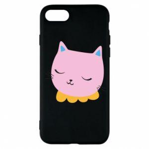 Phone case for iPhone 7 Pink cat - PrintSalon