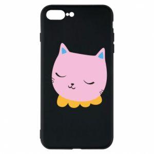 Phone case for iPhone 7 Plus Pink cat - PrintSalon
