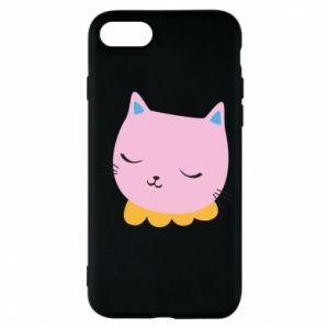 Phone case for iPhone 8 Pink cat - PrintSalon