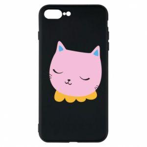 Phone case for iPhone 8 Plus Pink cat - PrintSalon
