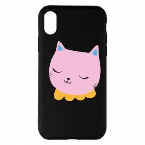 Phone case for iPhone X/Xs Pink cat - PrintSalon