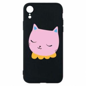 Phone case for iPhone XR Pink cat - PrintSalon