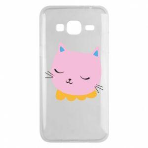 Phone case for Samsung J3 2016 Pink cat - PrintSalon