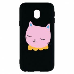 Phone case for Samsung J3 2017 Pink cat - PrintSalon