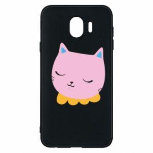 Phone case for Samsung J4 Pink cat - PrintSalon