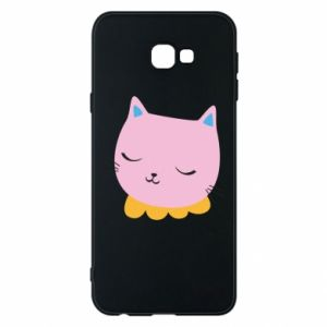 Phone case for Samsung J4 Plus 2018 Pink cat - PrintSalon