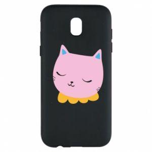 Phone case for Samsung J5 2017 Pink cat - PrintSalon