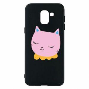 Phone case for Samsung J6 Pink cat - PrintSalon