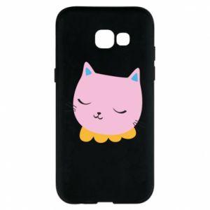 Phone case for Samsung A5 2017 Pink cat - PrintSalon