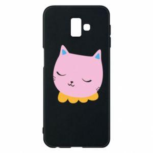 Phone case for Samsung J6 Plus 2018 Pink cat - PrintSalon