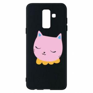 Phone case for Samsung A6+ 2018 Pink cat - PrintSalon