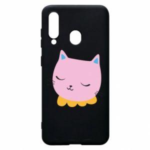 Phone case for Samsung A60 Pink cat - PrintSalon