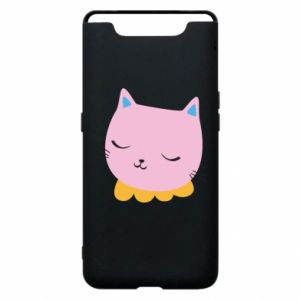 Phone case for Samsung A80 Pink cat - PrintSalon