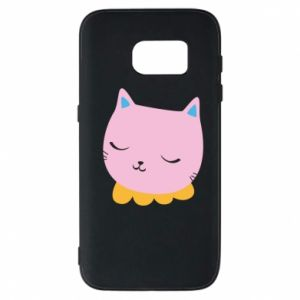 Phone case for Samsung S7 Pink cat - PrintSalon