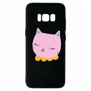 Phone case for Samsung S8 Pink cat - PrintSalon