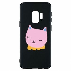 Phone case for Samsung S9 Pink cat - PrintSalon
