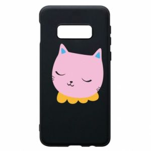 Phone case for Samsung S10e Pink cat - PrintSalon