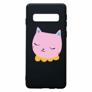 Phone case for Samsung S10 Pink cat - PrintSalon