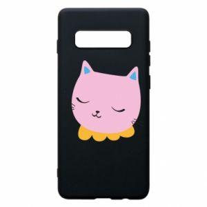 Phone case for Samsung S10+ Pink cat - PrintSalon